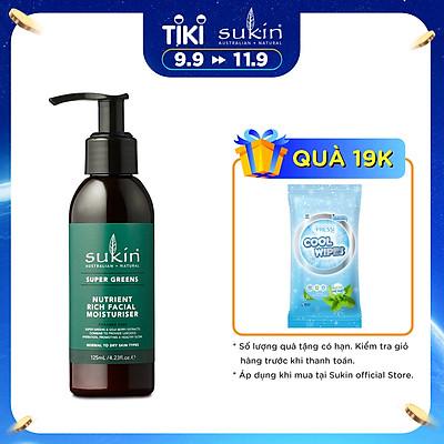Kem dưỡng da mặt Sukin Super Greens Nutrient Rich Facial Moisturiser 125ml
