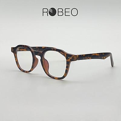Gọng kính cận nam nữ ROBEO , gọng vuông đa giác mắt chống ánh sáng xanh - Fullbox