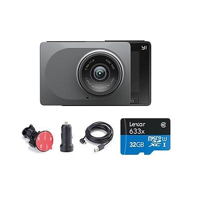 Combo Camera hành trình Xiaomi YI Car Smart Dash 1296p 2K - Phiên bản Quốc Tế , Kèm thẻ 32GB A1 Lexar - Hàng chính hãng