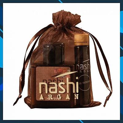 Bộ Nashi Argan Travel Kit chăm sóc tóc (Gội 30ml + Xả 30ml + Tinh dầu 5ml)