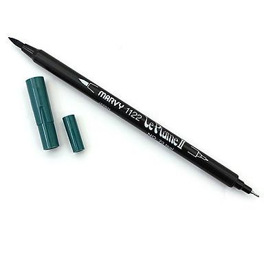 Bút lông hai đầu màu nước Marvy LePlume II 1122 - Brush/ Extra fine tip - Teal (73)