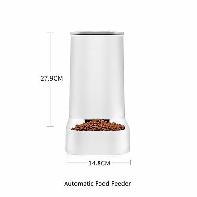 Dung tích lớn 3.8L Vật nuôi cho chó mèo Máy cho ăn tự động Bát có thể tháo rời Máy phân phối nước Thiết bị cho ăn thức ăn cho chó mèo Nguồn cung cấp vật nuôi
