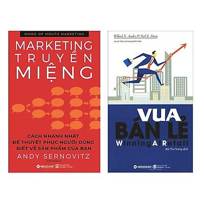 Combo 2 cuốn sách hay về Marketing- Bán Hàng : Marketing Truyền Miệng + Vua Bán Lẻ (Tặng kèm Bookmark thiết kế / Bộ Sách Để Thống Lĩnh Thị Trường Cho Những Nhà Bán Lẻ)