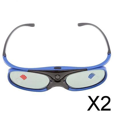 2x3D Glasses For DLP-LINK Projectors Active Shutter Acer/BenQ/Optoma