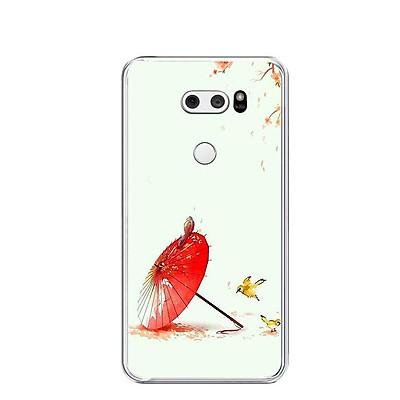 Ốp lưng dẻo cho điện thoại LG V30 - 0463 SAKURA02 - Hàng Chính Hãng
