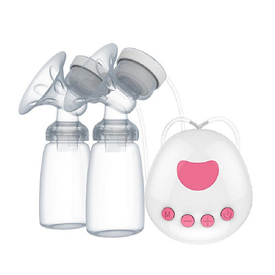 Intelligent Microcomputer Pump Bilateral Sucked Electric B-r-e-a-s-t Pump with Milk Bottle for Mothers