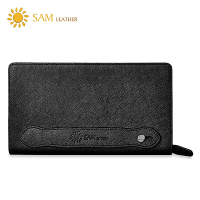 Ví Nam Cầm Tay SAM Leather – Ví Dài Nam Da Saffiano cao cấp SAM202