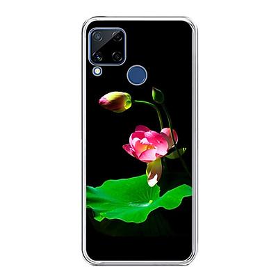 Ốp lưng dẻo cho điện thoại Realme C15 - 0221 LOTUS01 - Hàng Chính Hãng
