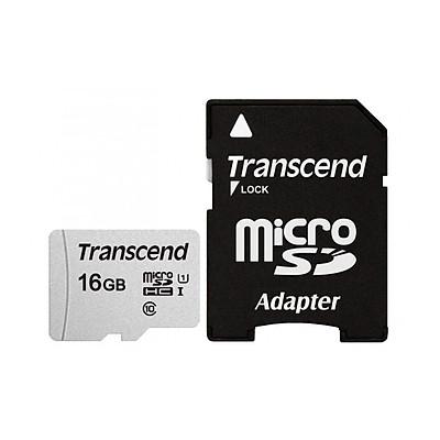 Thẻ Nhớ Micro SD Transcend 300S-A - 100MB/s (Kèm Adapter) - Hàng Chính Hãng