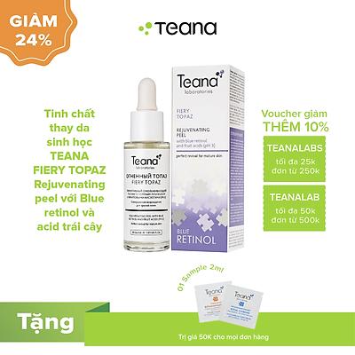 Tinh chất thay da sinh học TEANA FIERY TOPAZ Rejuvenating peel với Blue retinol và axit trái cây