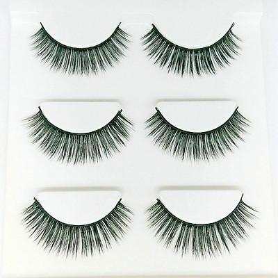 Lông mi giả lông chồn 3 Fashion Eyelashes 3 Faux-Cils 3D 1 bộ 3 cặp