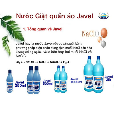 Nước tẩy trắng quần áo JAVEL 350 ml - tẩy mốc ,tẩy ố vàng an toàn - tiết kiệm