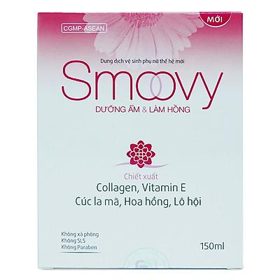 Dung dịch vệ sinh phụ nữ thế hệ mới Smoovy dưỡng ẩm và làm hồng vùng kín 150ml
