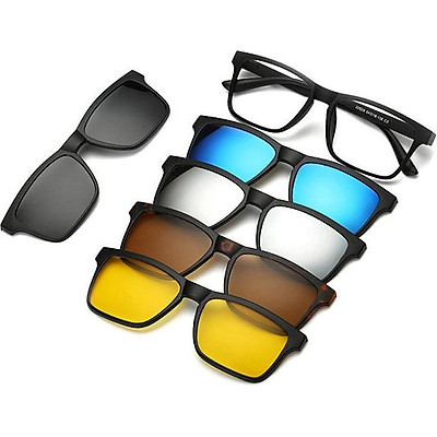 Bộ sản phẩm kính mắt đa tròng 5 in 1 kèm bao da