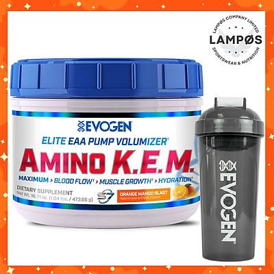 Evogen AMINO K.E.M Intra-Workout, EAA + BCAA, Phục Hồi & Xây Dựng Cơ Bắp, Sức Mạnh, Sức Bền, Bổ Sung 8.5G Amino Axit Thiết Yếu + 50G S7 + 2G Chất Điện Giải, Hộp 30 Lần Dùng