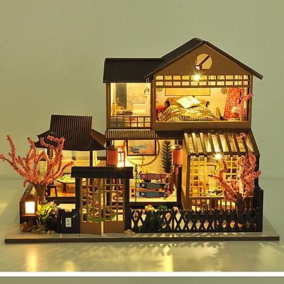 Mô hình nhà DIY Doll House A Day Of Okayama Kèm Mica Chống bụi