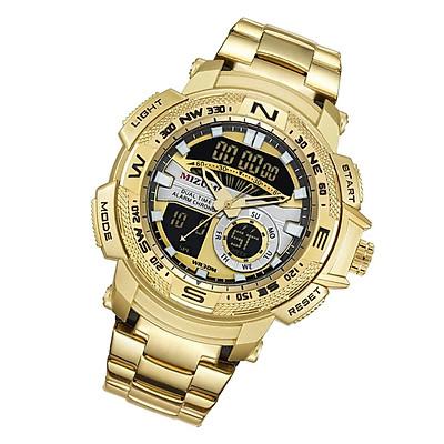 Golden Men Watch Steel Belt Quartz Watch Sport Waterproof Electronic Watch