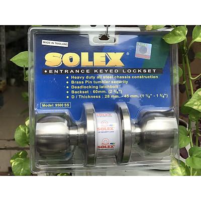 Khóa đấm tay nắm tròn inox 304 thương hiệu Solex - Mỹ
