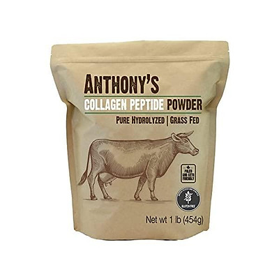 Anthony's Collagen Peptide Powder, 1lb, Pure Hydrolyzed, Gluten Free, Keto and Paleo Friendly, Grass Fed, Unflavored, Non GMO,