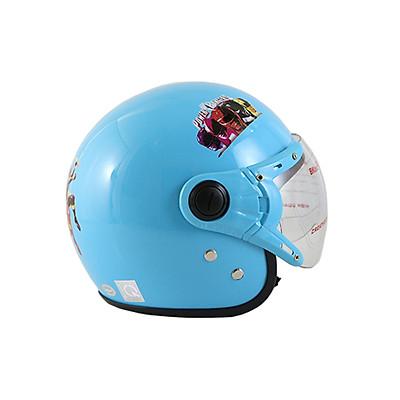 Mũ bảo hiểm 3/4 đầu hình siêu nhân cho bé trai, nón bảo hiểm cao cấp BKtec