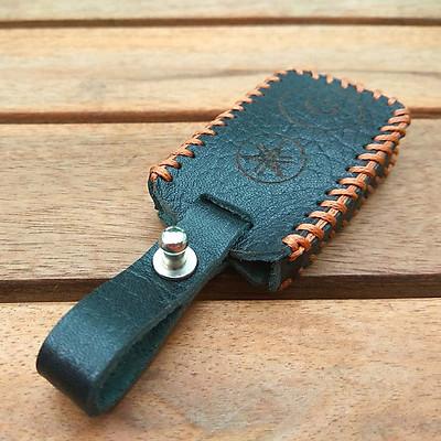 Bao da chìa smartkey Yamaha Handmade (Đen)