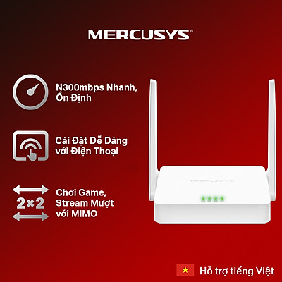 Bộ Phát Wifi Mercusys MW301R Chuẩn N 300Mbps - Hàng Chính Hãng