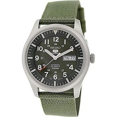 Seiko 5 Men's SNZG09K1 Sport Analog Automatic Khaki Green Canvas Watch