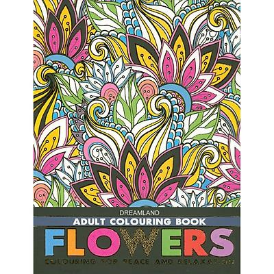 Sách Tô Màu Người Lớn - CÁC LOÀI HOA: Tô Màu Cho Cuộc Sống Bình Yên Và Thư Giãn (Adult Colouring Book - Flowers: Colouring For Peace And Relaxation)