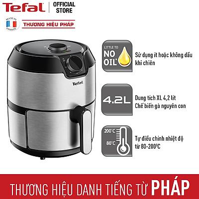 Nồi chiên không dầu Tefal EY201D15 - 4.2L - Vỏ thép không rỉ - Công nghệ luân chuyển khí nóng 3D không cần trở - Hàng chính hãng
