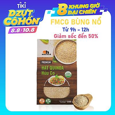 Hạt Quinoa (Diêm mạch) Trắng Smile Nuts hộp giấy 500g - White Quinoa Seed Smile Nuts 500g