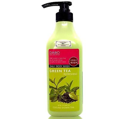 Sữa tắm chiết xuất từ trà xanh mát da hỗ trợ trị mụn sạch nhờn DABO REFRESHING GREEN TEA DAILY BODY WASH Hàn Quốc Chính Hãng ( 750ml)