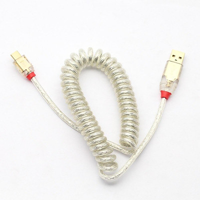 LINDY USB2.0A to Mini-B micro type-c Cable wire Mechanical Keyboard Silver cable coiled cable usb a to usb c soft wire