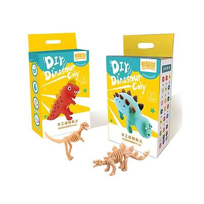 Bộ đồ chơi đất sét khủng long gồm nhiều màu và khung mô hình cho bé