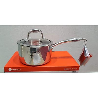 Quánh Nấu Bột Inox Elmich Trimax Đáy Liền Cao Cấp Size 16Cm- Hàng Chính Hãng