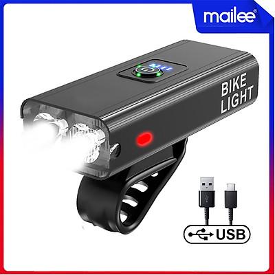 Đèn Xe Đạp Led Gắn Xe Đạp Thể Thao BK4 x2 Bóng Led T6 Độ Sáng Cao 6 Chế Độ Mẫu Mới Sạc Điện USB, Chống Nước Cho Xe Đạp Mai Lee