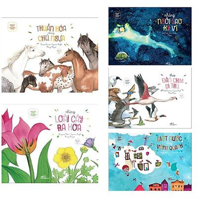 Combo 5 cuốn Khoa Học Chẳng Khó :  Theo Đàn Chim Di Trú +  Thuần Hóa Những Chú Ngựa + Những Ngôi Sao Kỳ Vĩ +  Những Loài Cây Ra Hoa + Giọt Nước Chạy Vòng Quanh ( Tặng kèm Bookmark Happy Life)