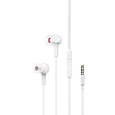 Tai nghe nhét tai Hoco M78 chân cắm 3.5mm chất liệu TPE siêu bền tích hợp Micro điều hướng dài 1.2M cho Smartphone ( 2 màu ) - Hàng chính hãng