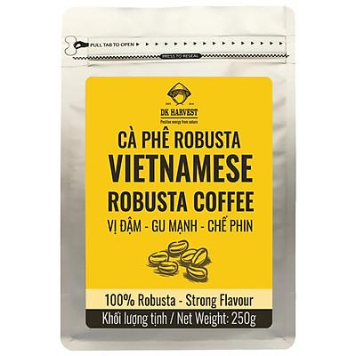 Cà Phê Pha Phin hiệu DK HARVEST Gu Mạnh - 100% Robusta nguyên chất giữ trọn hương vị truyền thống