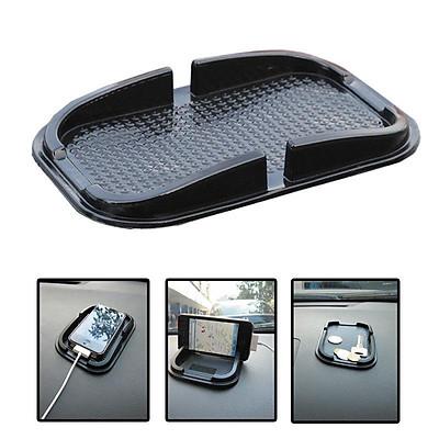 Car Mobile Phone Holder Non Slip Dashboard Mat Anti Skid Grip Mount - Black