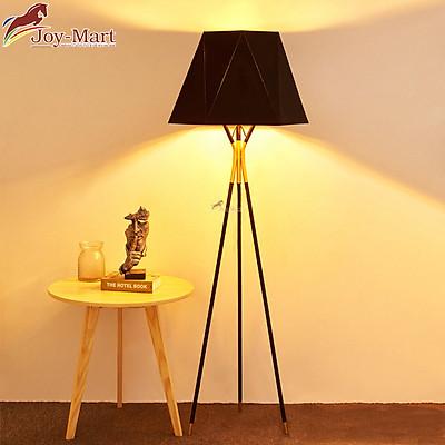 Đèn Cây Đứng Trang Trí Phòng Ngủ - Đèn Đứng Thân Hợp Kim Sơn Tĩnh Điện, Chao Vải Đen Thiết Kế Hiện Đại ML217