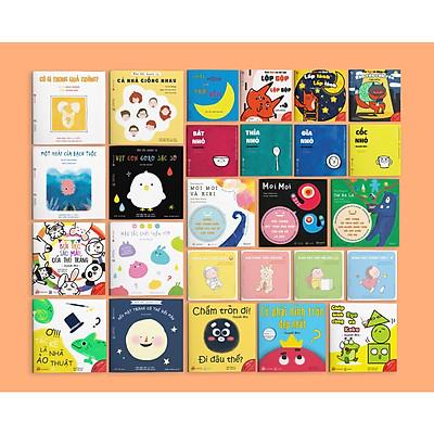 Combo 26 cuốn Ehon dành cho bé từ 0 tuổi. Ehon nuôi dưỡng tâm hồn trẻ (Chiếc miệng trời đêm - Cáo Ken - Moi Moi - Đồ vật - Tengu - Màu sắc - Hình khối)