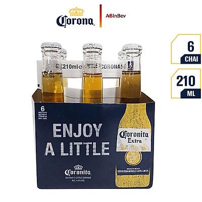 Lốc 6 chai bia Coronita Extra 210ml