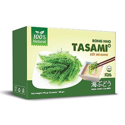 Rong Nho Tách Nước Tasami Kèm Xốt Mè Rang - Hộp 175g (35g x 5 gói)