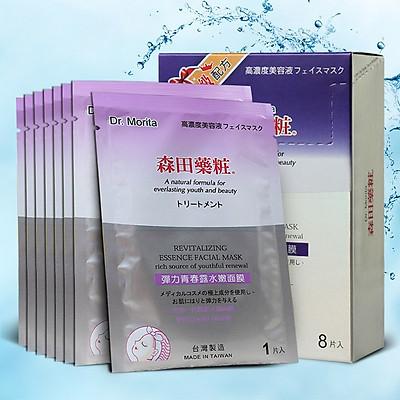 Hộp 8 miếng Dr Morita Đài Loan - Mặt nạ phục hồi, dưỡng ẩm da Revitalizing Essence Facial Mask