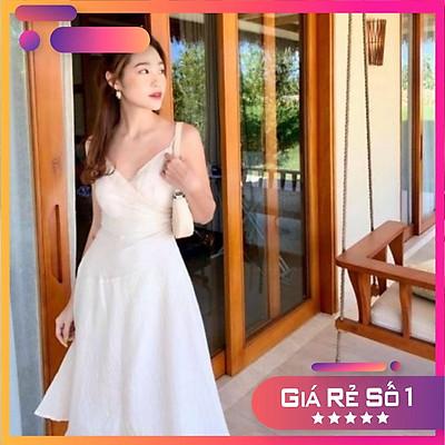 Đầm 2s chéo trắng [ CÓ SẴN ]