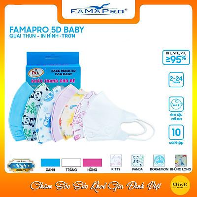 [[ Xuất Khẩu Mỹ ]] - Khẩu Trang Y Tế Cao Cấp FAMAPRO - 3 Lớp Kháng Khuẩn / 99% Lọc Khuẩn, Bụi, Virus Tốt Nhất / Trẻ Em - [ CB1 - 5D BABY - HỘP ]
