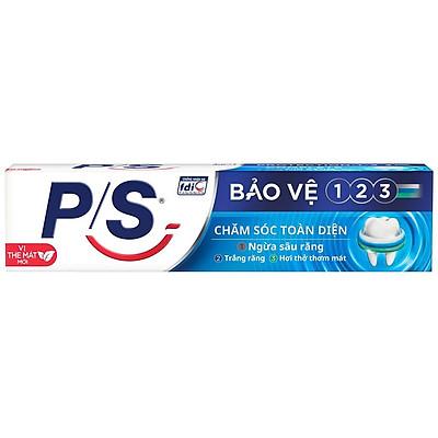 Kem Đánh Răng P/S Bảo Vệ 123 Chăm sóc Toàn Diện 190g giúp ngừa sâu răng, trắng răng và mang lại hơi thở thơm mát.