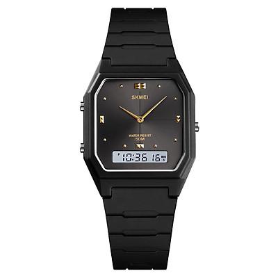 Đồng hồ điện tử kỹ thuật số siêu mỏng cho nam SKMEI Màn hình kép Unisex 3 Chế độ thời gian Ngày trong tuần Đồng hồ báo thức chống nước 5ATM