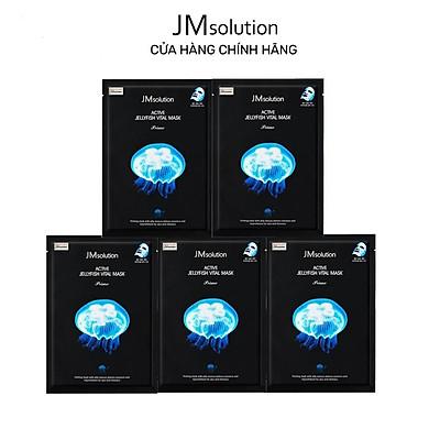 Combo 5 Mặt Nạ Sứa Biển JMSolution Active Jellyfish Vital Mask Thanh Lọc, Giải Độc Da 33ml x5