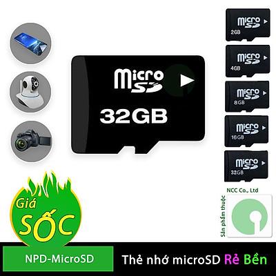 Thẻ nhớ MicroSD có bảo hành 12 tháng dùng kèm cho các thiết bị Điện thoại, máy ảnh, camera ip - NPD-MicroSD (Nhiều loại)